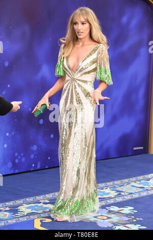 London, UK. 09th May, 2019. LONDON, UK. May 09, 2019: Jacqui Ainsley at the 'Aladdin' premiere at the Odeon Luxe, Leicester Square, London. Picture: Steve Vas/Featureflash Credit: Paul Smith/Alamy Live News - Stock Image