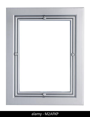 silver picture frame - Stock Image