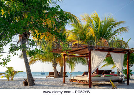 Holbox island : the beach (Isla Holbox - Mexico) - Stock Image