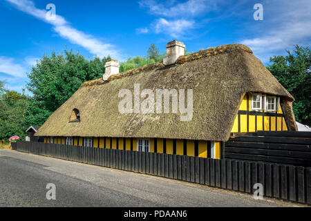 Old half-timbered house in the eastern part of Jutland - Fredericia, Denmark. - Stock Image