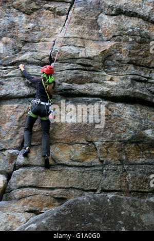Rock Climber Shawangunk Mountains, The Gunks, New York - Stock Image
