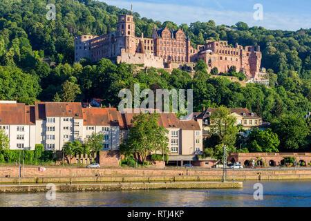 Heidelberg Castle, Heidelberger Schloss, Heidelberg, Baden-Wurttemberg, Germany - Stock Image