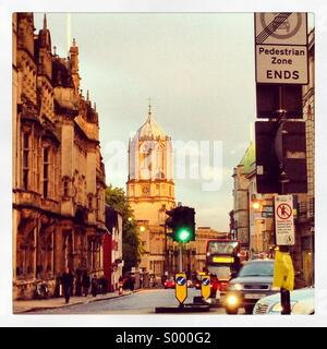 Oxford street scene, looking down st aldates. - Stock Image