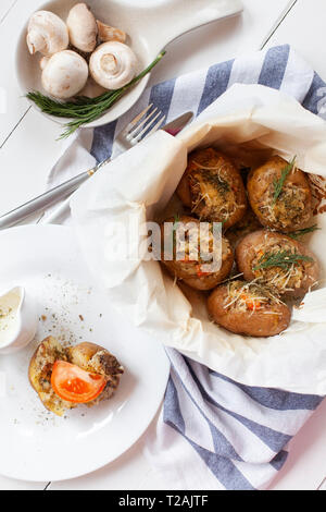 Baked potatoes - Stock Image