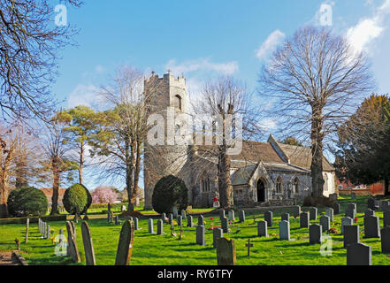 A view of the parish Church of St Edmund at Taverham, Norfolk, England, United Kingdom, Europe. - Stock Image