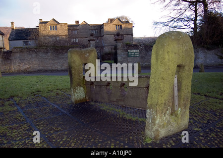 Stockes at Eyam is the famous plague village which went into voluntary quarantine when the plague was imported from - Stock Image