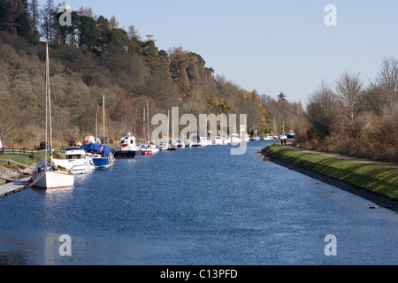 Caledonian Canal at Dochgarroch near Inverness - Stock Image