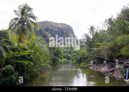 River in St Lucia, The Caribbean - Stock Image