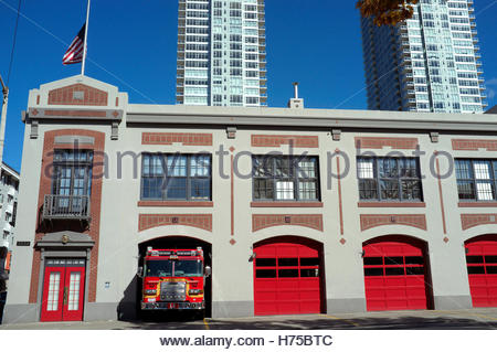 City of Seattle Fire Station 2, in Seattle, Washington State, USA. - Stock Image