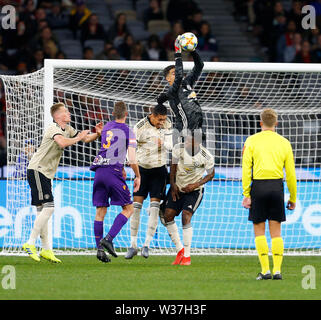 Optus Stadium, Perth, Western Australia. 13th July, 201913th July 2019, Optus Stadium, Perth, Western Australia; Pre-season friendly football, Perth Glory versus Manchester United; Joel Pereira of Manchester United saves a Perth Glory shot on goal Credit: Action Plus Sports Images/Alamy Live News - Stock Image