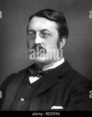 CHARLES VILLIERS STANFORD (1852-1924) Irish composer, about 1890 - Stock Image