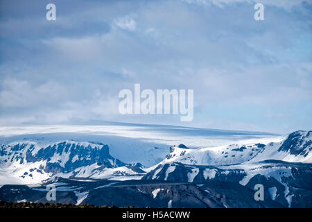 Cloudy sky over mountain range - Stock Image