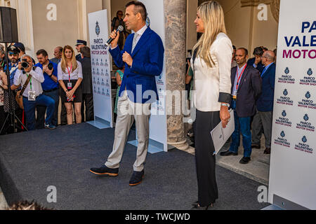 Piedmont Turin - Turin auto show 2019  - Valentino park - Valentino castle - Andrea Levy - President of the event - Stock Image