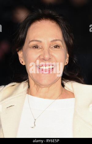 London, UK. 12th Mar, 2019. LONDON, UK. March 08, 2019: Arlene Phillips arriving for the premiere of 'The White Crow' at the Curzon Mayfair, London. Picture: Steve Vas/Featureflash Credit: Paul Smith/Alamy Live News - Stock Image