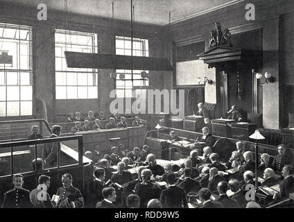 OLD BAILEY Interior of the London court about 1898 - Stock Image