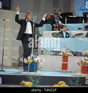 Graham Bonney, britischer Entertainer und Schlagersänger, Deutschland ca.1973. British schlager singer and entertainer Graham Bonney, Germany ca. 1973. - Stock Image