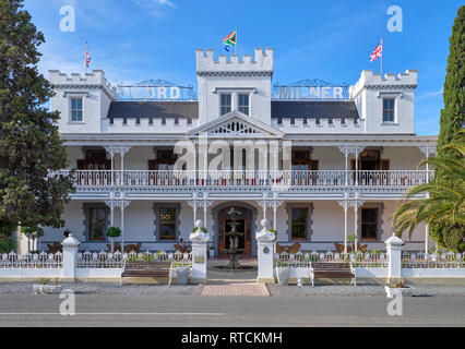 Historic Lord Milner Hotel a testimonial to Victorian times in the Karoo. Matjiesfontein, South Africa - Stock Image