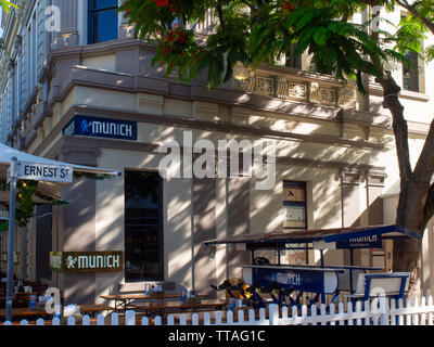 Restaurant On The Corner Of Ernest Street In Brisbane - Stock Image