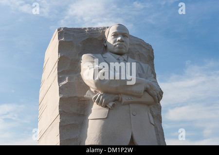 Marble statue of Martin Luther King Jr. in Washington DC - Stock Image