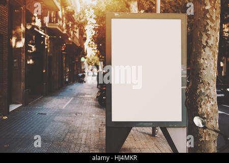 Empty mock up banner for your advertising, blank billboard with copy space area for your text message or promotional - Stock Image
