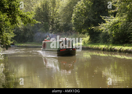 A Pleasure Barge on the Grand Union Canal Watford Hertfordshire - Stock Image