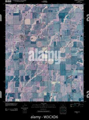 USGS TOPO Map Kansas KS Norwich 20100216 TM Inverted Restoration - Stock Image