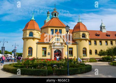 Balneology historical bath-house hospital building, Plac Zdrojowy, Sopot, Poland - Stock Image