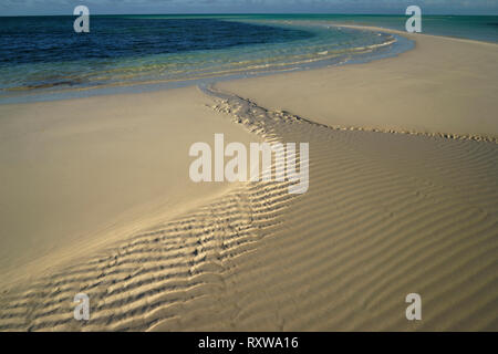 Beach on South Andros Island,The Bahamas. Best known for bone fishing,scuba diving and Blue Holes. Although quite close to Nassau, tourism is not well-developed. The Caribbean - Stock Image
