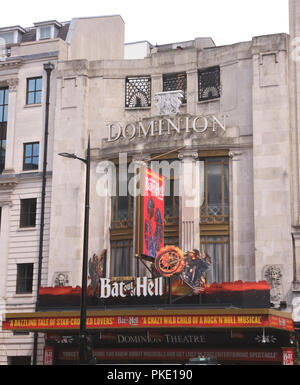 Bat Out of Hell showing at Dominion Theatre London August 2018 - Stock Image