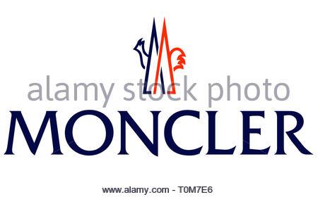 Moncler logo - Stock Image