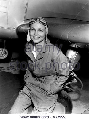 Mrs Betty Gillies. Mrs. Betty Gillies was the first woman pilot to be flight checked and accepted by the Women's - Stock Image
