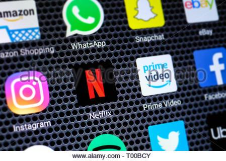 Netflix app logo - Stock Image