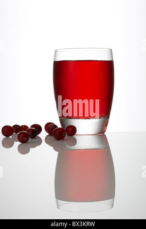 Cranberry Juice with loose Cranberries - Stock Image