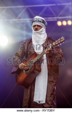 Tinariwen is a band of Tuareg musicians from the Sahara Desert region of Mali. - Stock Image