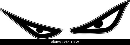 Evil eyes looking down in vector - Stock Image