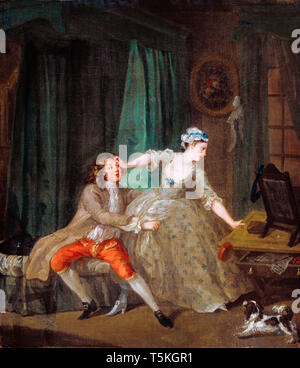 William Hogarth, Before, painting, c. 1730 Private Collection - Stock Image
