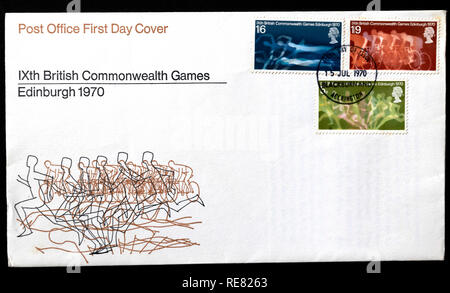 1970 Commonwealth Games, Edinburgh, UK first day cover. - Stock Image