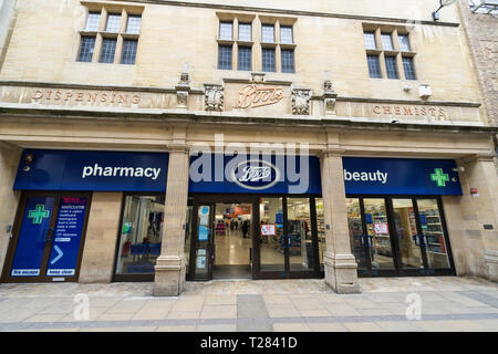 Boots shop front Petty Cury Cambridge - Stock Image