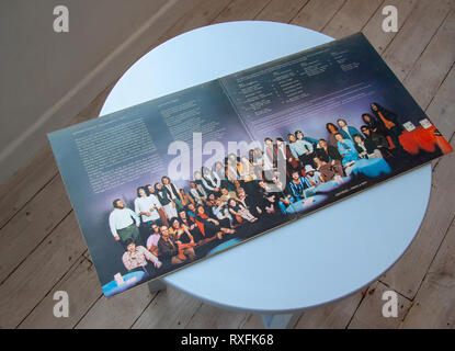Inside picture of enormous jazz band Centipede - Stock Image