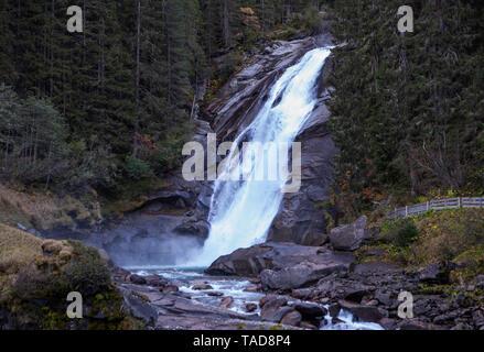 Austria, High Tauern National Park, Krimml waterfalls, Mid Falls - Stock Image