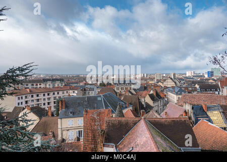 View over the city of Montlucon (facing North)  as seen from the lookout at Chateau des Ducs de Bourbon - Stock Image