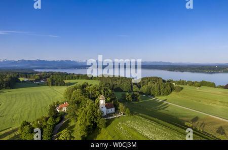 Church in Holzhausen bear Lake Starnberg, Bavaria, Germany - Stock Image