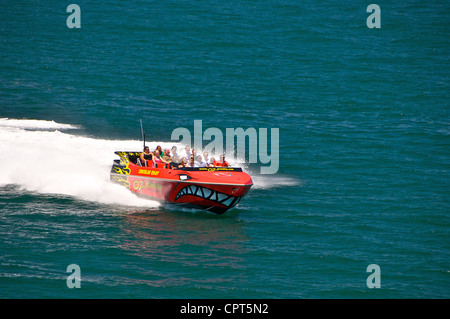 Oz Jet boat in Sydney Harbour Australia - Stock Image