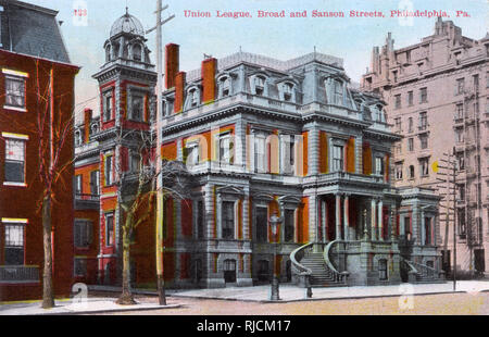 Union League, Broad Street and Sanson Street, Philadelphia, Pennsylvania, USA. - Stock Image