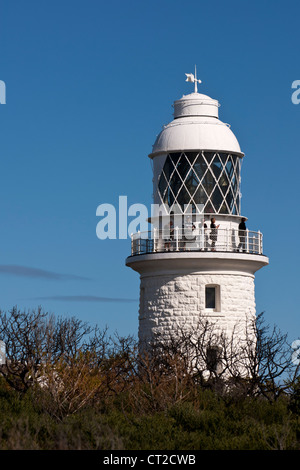 Tourists at Cape Naturaliste lighthouse, Western Australia - Stock Image