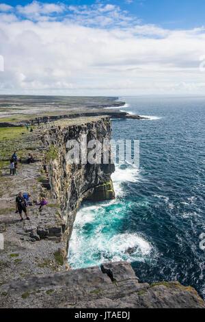 Rocky cliffs of Arainn, Aaran Islands, Republic of Ireland, Europe - Stock Image