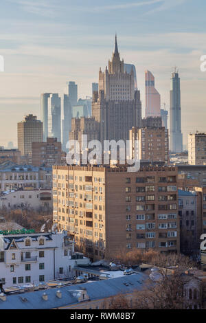 Cityscape, Ministry of Foreign Affairs, Moscow, Russia - Stock Image