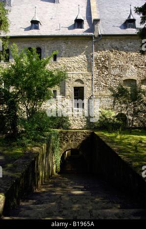 goslar harz mountains germany deutschland travel tourism architecture building river - Stock Image