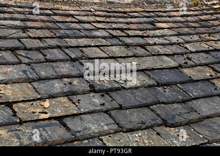 Yorkshire slate roofing - Stock Image
