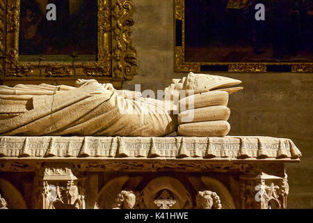Coffin at Seville Cathedral - Stock Image